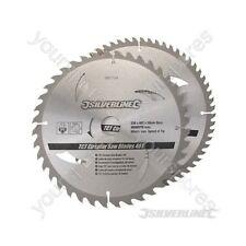Hojas De Sierra Circular TCT 40, 60T 2pk - 250 X 30 - 25, 20, 16mm Anillos