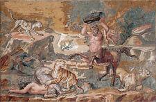 Mosaic Marble Art Reproduction,Villa Adriana,Tivoli battle against the predator