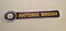 "Antonio Brown FATHEAD Player Nameplate Sign 30"" x 6.5"" Official Graphic STEELERS"