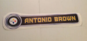 """Antonio Brown FATHEAD Player Nameplate Sign 30"""" x 6.5"""" Official Graphic STEELERS"""