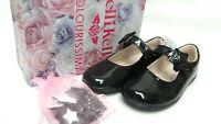 LELLI KELLY Colourissma Black Patent Girl's School Shoes Size UK 7/9 EU 25/27