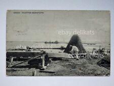 GRADO Schiffer werkstatte barca cantiere pescatore Gorizia vecchia cartolina