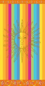 MULTI RAINBOW SUN JUMBO EXTRA LARGE BEACH 170x90cm VELOUR EGYPTIAN COTTON