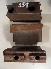 3 Backen Blockbacken Aufsatzbacken f. Dreibackenfutter Drehmaschinenfutter #0351