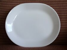 """Corelle Oval Platter White Winter Frost 12.25"""" X 10"""" NEW Never Used"""