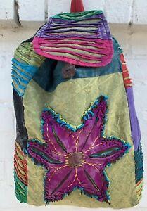 Hippie BackPack Boho Bag Hippie Star Symbol Beach Handbag Festival Rucksack