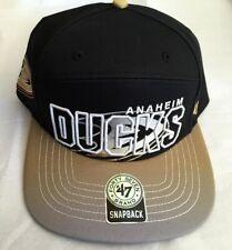 Anaheim Ducks NHL '47 Brand Black Glowdown One Size Fits All Snapback CAP
