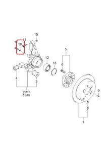 SPRING WASHER - Transmission, Rear Hub, Steering Column GENUINE KIA 1360210006K