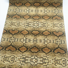 Snakeskin Printed Faux Leather Fabric Vinyl Wallet Bag Phone Case Craft Roll