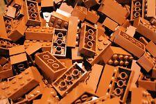 50 x Lego ® Brick/Pierres 2x4 (3001) en nouveau marron/reddish Brown NEUF