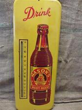 HUGE Vintage Mason Root Beer Thermometer > Antique Beverage Drink Soda Cola 9119