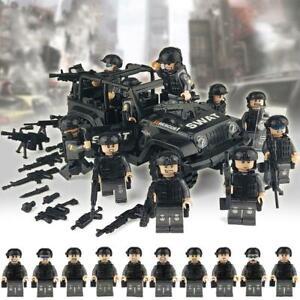 Military Soldiers Bricks Figures Car Guns Weapons Building Blocks Kids Toys educ