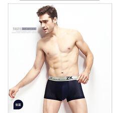 New fashion Men's  Breathable Icy Mesh Silk Boxer Brief Underwear Underpants