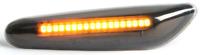 2 DYNAMIC SEITENBLINKER SCHWARZ LED BLINKER für BMW X1 X3 X5 E84 E83 E53 M M3 M5