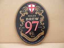 Moles Brew 97 English Ale Beer Pump Clip face Bar Collectible 61