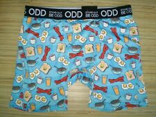 Mens Stand Out Be Odd Egg Bacon Breakfast Boxer Brief Size Xl