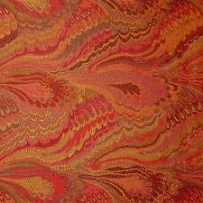 5.5 yards Breathtaking Red Marbleized Design Italian Tapestry Upholstery Fabric