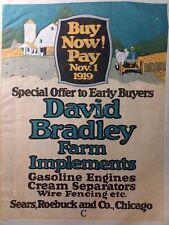 Sears David Bradley 1919 Farm Color Sales Catalog Manual Tractor Tools