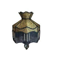 Abat-jour ventilateur antiquaire en matériau effet parchemin antique