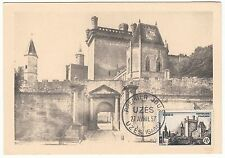 CARTE MAXIMUM TIMBRE FRANCE N° 1099 UZES CHATEAU