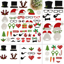 50pcs Christmas Festive Party Photo Booth Props Mustache On A Stick Photography