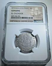 1769 El Cazador Shipwreck 2 Reales Piece of 8 Real Colonial Pirate Treasure Coin