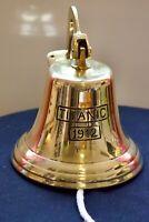 Grande cloche de bateau / Marine gravée du Titanic 1912