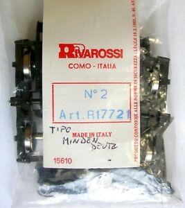 RIVAROSSI RICAMBI: R17721 CARRELLO PER CARROZZA H0-COPPIA