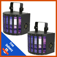 2x QTX Derby 9 27 W rgbywap UV LED DJ DMX Viga Derby Kinta 9 Color Efecto de luz