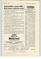 1912 Paper Ad Mobiloil Vacuum Oil Co Rochester  Goodyear Code
