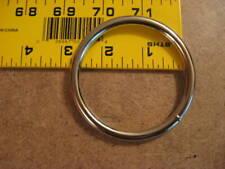 "2 1/2"" Nickel Plated / Silver Steel Welded Heavy Duty O Rings (Pack Of 10)"