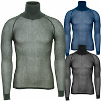 Brynje Super Thermo Mesh Net Thermal Winter Base Layer Polo Neck Under Shirt Top