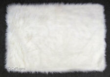 "3x5 Rug  Shaggy Fluffy Flokati  SHAG Solid  White 3 inch Thick   3'3'x4'10"" NEW"