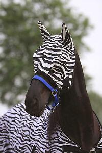 Zebra Fliegenhaube - Fliegenmaske - Fliegenschutz mit oder ohne Ohrenschutz