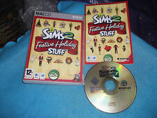 THE SIMS 2 Festa Vacanza Stuff Apple Mac Add-On Pack v.g.c. POST VELOCE