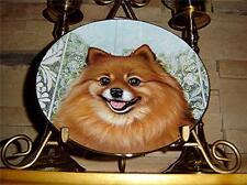 Poms Pomeranians Dog Puppy Morning Greeting Barbara Higgins Danbury Mint Plate