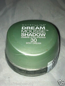 Maybelline Dream Mousse Eye Shadow *30 MINT DREAM* Soft Green Brand New Sealed