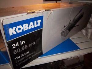 NEW Kobalt 24-in Snap TILE Cutter 0535112 NIB FREE SHIPPING