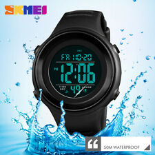 SKMEI Men Military Sports Watch LED Digital Stopwatch Water Resistant Watches