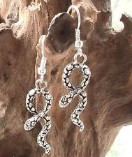 Pendientes de Plata, Serpiente Egipcia energía mística Twin Snakes símbolo de amor