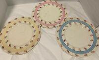 Fondeville Ambassador Ware 3 Snack Plates Made in England Luncheon Brunch Bridal