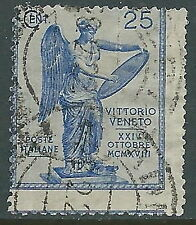 1921 REGNO USATO VITTORIA 25 CENT VARIETà DENTELLATURA - S122