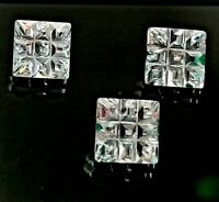 Natural Cambodia White Zircon Fancy Square Carved Cut 5.60 Carat Loose Gemstones
