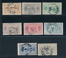 1881 - 1896 Sweden OFFICIAL STAMPS (8); USED; CV $90