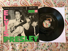 ELVIS PRESLEY EPA-747 w/ P.D. Credit RCA EP 45 Picture Sleeve BLUE SUEDE SHOES