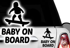 1x Aufkleber BABY WUNSCHNAME ON BOARD Sticker Hangover Baby Auto Kind fährt mit