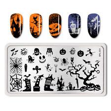 BORN PRETTY Halloween Nail Stamping Plates Nail Art Image Stencil Template DIY