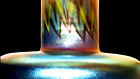 Authentic Louis C. Tiffany Favrile Glass Vase w/an Egyptian Decoration