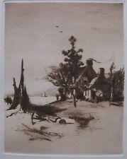 """CHARLES A. VANDERHOOF AMERICAN ETCHING """"THE FISHERMAN'S HOME"""" 1884"""