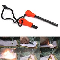 Survival Magnesium Flint Stone Fire Starter2 Emergency Lighter2 Kit Camping